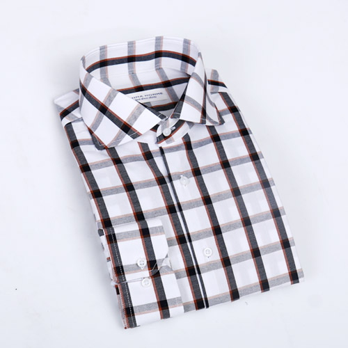 no.943 cotton modern check shirt