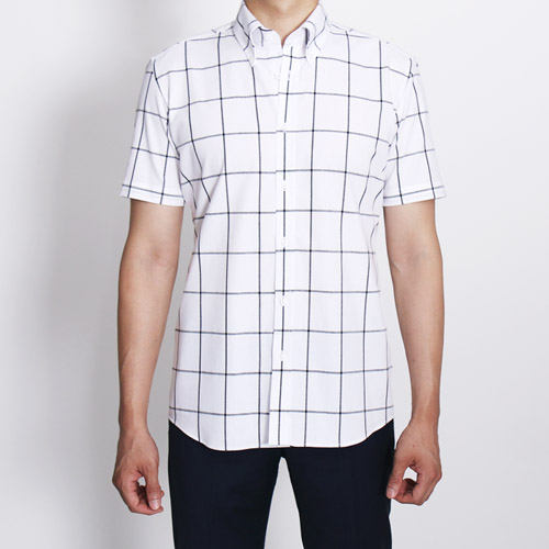 no.934 Window pane white shirt